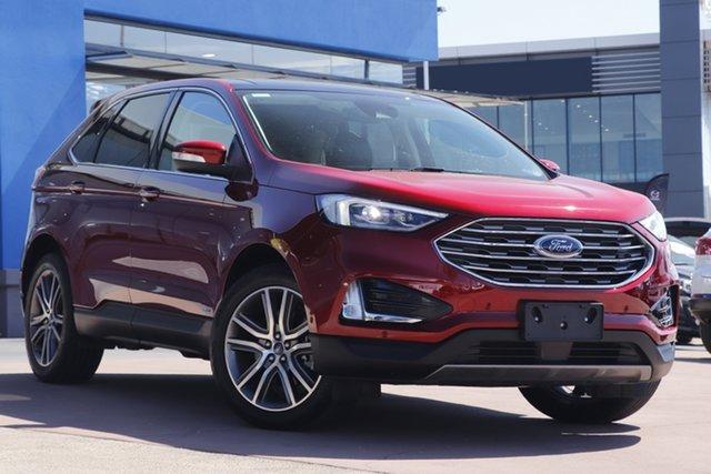 Used Ford Endura CA 2019MY Titanium Toowoomba, 2019 Ford Endura CA 2019MY Titanium Red 8 Speed Sports Automatic Wagon
