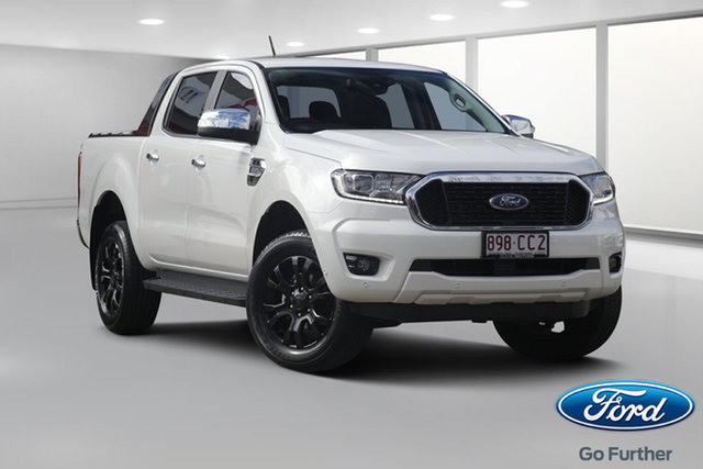 Demo Ford Ranger PX MkIII 2021.25MY XLT Beaudesert, 2021 Ford Ranger PX MkIII 2021.25MY XLT Alabaster White 6 Speed Sports Automatic Double Cab Pick Up