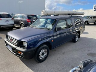 2001 Mitsubishi Triton MK GLX Blue 5 Speed Manual Club Cab Utility.