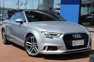 2016 Audi A3 8V MY17 Sport S Tronic Silver 7 Speed Sports Automatic Dual Clutch Cabriolet.