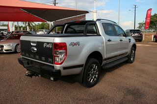 2017 Ford Ranger PX MkII 2018.00MY FX4 Double Cab Silver 6 Speed Automatic Double Cab Pick Up