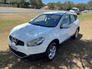 2012 Nissan Dualis J10 Series II MY2010 +2 Hatch X-tronic ST White 6 Speed Constant Variable.