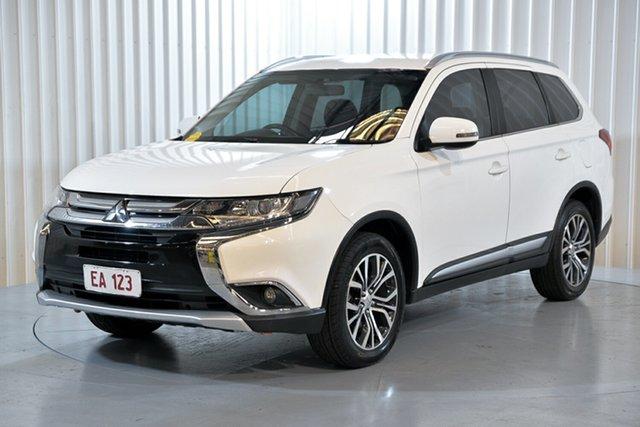 Used Mitsubishi Outlander ZK MY17 LS 2WD Hendra, 2017 Mitsubishi Outlander ZK MY17 LS 2WD White 6 Speed Constant Variable Wagon