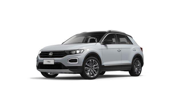 Demo Volkswagen T-ROC A1 110TSI Style Hamilton, 2020 Volkswagen T-ROC A1 110TSI Style White Silver 8 Speed Automatic SUV