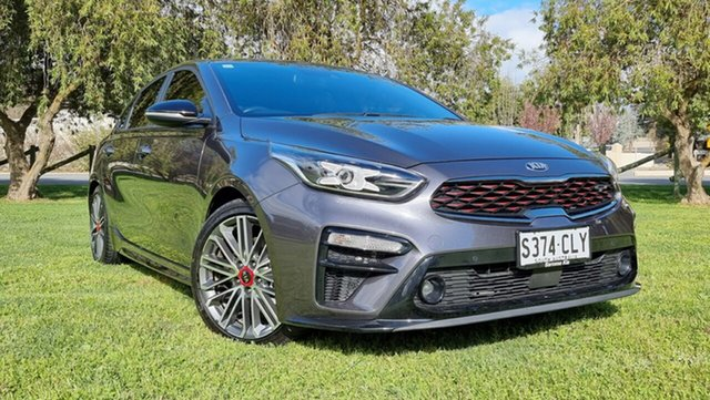 Used Kia Cerato BD MY20 GT DCT Nuriootpa, 2019 Kia Cerato BD MY20 GT DCT Platinum Graphite 7 Speed Sports Automatic Dual Clutch Hatchback