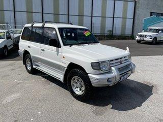 1999 Mitsubishi Pajero NL GLS LWB (4x4) White 4 Speed Automatic 4x4 Wagon.