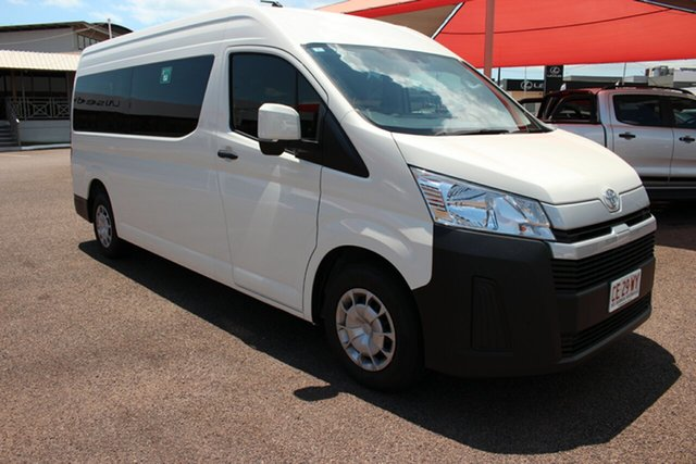 Pre-Owned Toyota HiAce GDH322R Commuter High Roof Super LWB Darwin, 2020 Toyota HiAce GDH322R Commuter High Roof Super LWB French Vanilla 6 Speed Sports Automatic Bus