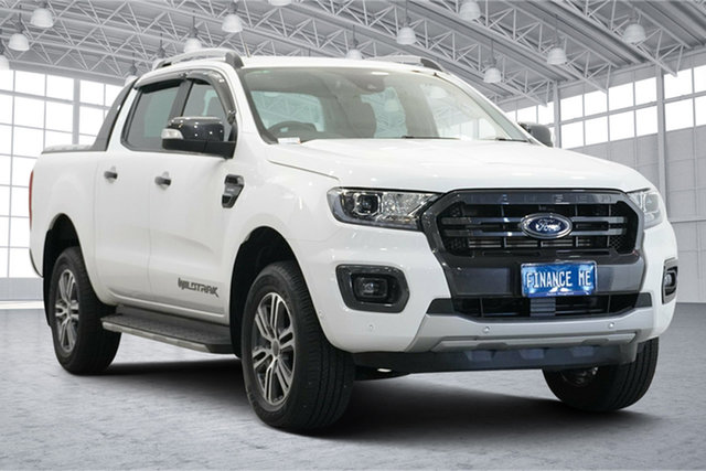 Used Ford Ranger PX MkIII 2021.25MY Wildtrak Victoria Park, 2021 Ford Ranger PX MkIII 2021.25MY Wildtrak White 10 Speed Sports Automatic Double Cab Pick Up