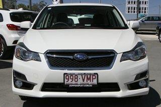 2015 Subaru Impreza G4 MY15 2.0i Lineartronic AWD Premium White 6 Speed Constant Variable Hatchback.