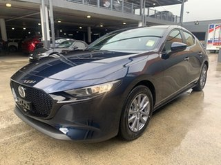 2021 Mazda 3 BP2H7A G20 SKYACTIV-Drive Pure Deep Crystal Blue 6 Speed Sports Automatic Hatchback