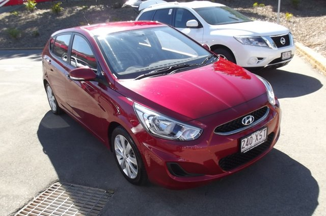 Used Hyundai Accent RB6 MY18 Sport South Gladstone, 2017 Hyundai Accent RB6 MY18 Sport Red 6 Speed Sports Automatic Hatchback
