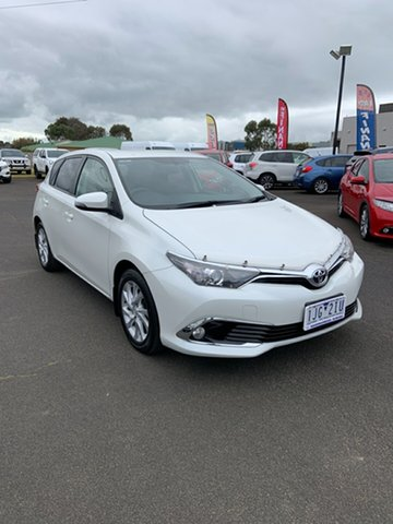 Used Toyota Corolla ZRE182R Ascent S-CVT Warrnambool East, 2016 Toyota Corolla ZRE182R Ascent S-CVT Blizzard 7 Speed Constant Variable Hatchback