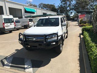 2018 Holden Colorado RG MY19 LS Crew Cab White 6 speed Manual Cab Chassis.