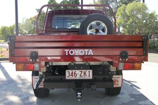 2017 Toyota Landcruiser VDJ79R GXL Double Cab Merlot Red 5 Speed Manual Cab Chassis