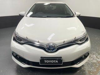 2018 Toyota Corolla ZWE186R Hybrid E-CVT White 1 Speed Constant Variable Hatchback Hybrid.
