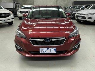 2016 Subaru Impreza G5 MY17 2.0i-L CVT AWD Red 7 Speed Constant Variable Sedan.