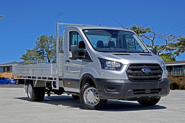 Used Ford Transit VO 2021.25MY 430E Capalaba, 2020 Ford Transit VO 2021.25MY 430E Silver 10 Speed Automatic Single Cab Cab Chassis