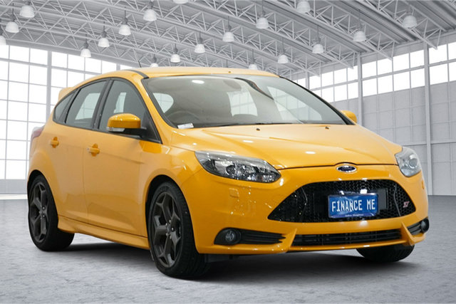 Used Ford Focus LW MkII ST Victoria Park, 2014 Ford Focus LW MkII ST Yellow 6 Speed Manual Hatchback