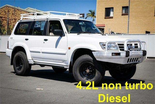 Used Nissan Patrol GU III MY2003 ST-L Moorooka, 2003 Nissan Patrol GU III MY2003 ST-L White 5 Speed Manual Wagon
