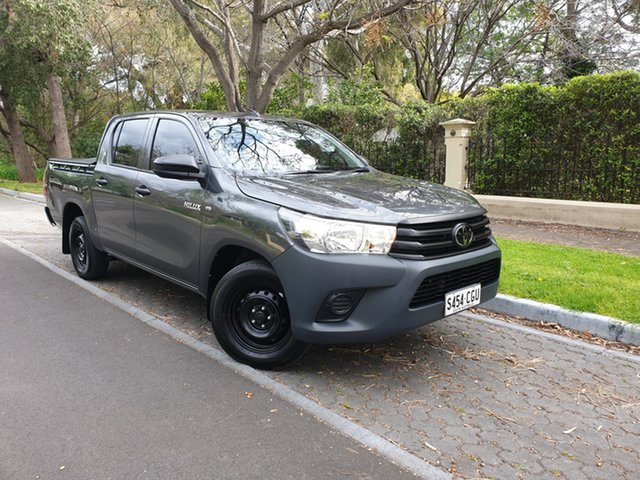 Pre-Owned Toyota Hilux TGN121R Workmate Double Cab 4x2 Hawthorn, 2020 Toyota Hilux TGN121R Workmate Double Cab 4x2 Grey 6 Speed Sports Automatic Utility
