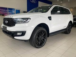 2021 Ford Everest UA II Sport Arctic White 6 Speed Automatic SUV.
