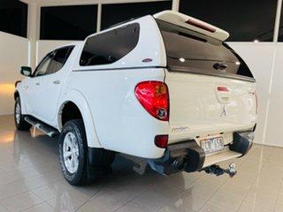 2011 Mitsubishi Triton MN MY11 GLX-R Double Cab White 5 Speed Sports Automatic Utility.