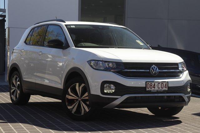 Demo Volkswagen T-Cross C1 MY21 85TSI DSG FWD CityLife Newstead, 2021 Volkswagen T-Cross C1 MY21 85TSI DSG FWD CityLife Pure White 7 Speed