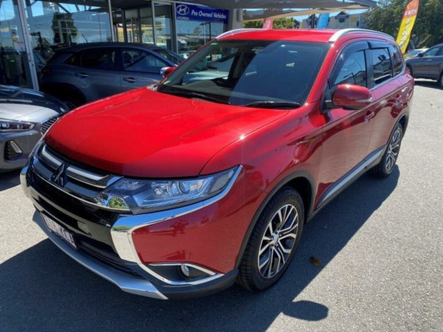 Used Mitsubishi Outlander ZL MY18.5 LS AWD Springwood, 2018 Mitsubishi Outlander ZL MY18.5 LS AWD Rally Red 6 Speed Constant Variable Wagon