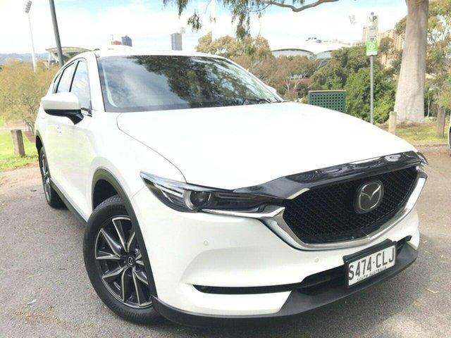 Used Mazda CX-5 KE1022 Akera SKYACTIV-Drive i-ACTIV AWD Adelaide, 2017 Mazda CX-5 KE1022 Akera SKYACTIV-Drive i-ACTIV AWD White 6 Speed Sports Automatic Wagon
