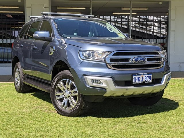Used Ford Everest UA 2018.00MY Trend Victoria Park, 2018 Ford Everest UA 2018.00MY Trend Blue 6 Speed Sports Automatic SUV