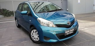 2014 Toyota Yaris NCP130R YR Blue 5 Speed Manual Hatchback.