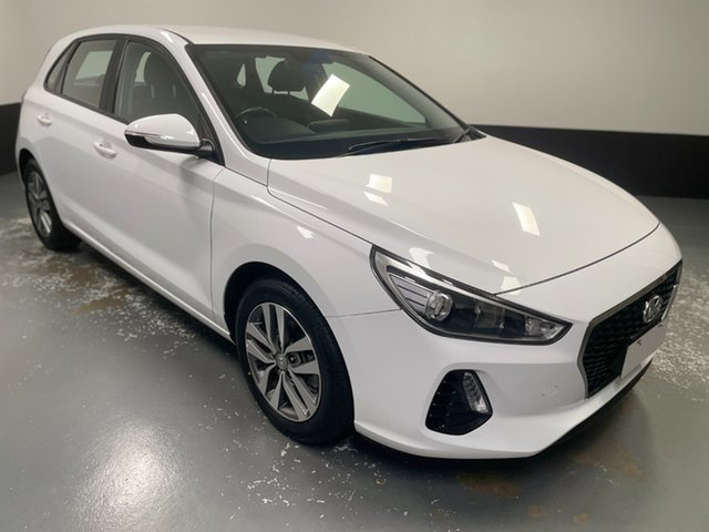 Used Hyundai i30 PD2 MY19 Active Hamilton, 2019 Hyundai i30 PD2 MY19 Active White 6 Speed Sports Automatic Hatchback