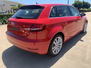 2017 Audi A3 8V MY18 Sportback S Tronic Red/290118 7 Speed Sports Automatic Dual Clutch Hatchback.