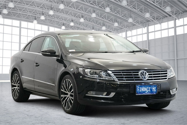 Used Volkswagen CC Type 3CC MY15 130TDI DSG Victoria Park, 2014 Volkswagen CC Type 3CC MY15 130TDI DSG Black 6 Speed Sports Automatic Dual Clutch Coupe