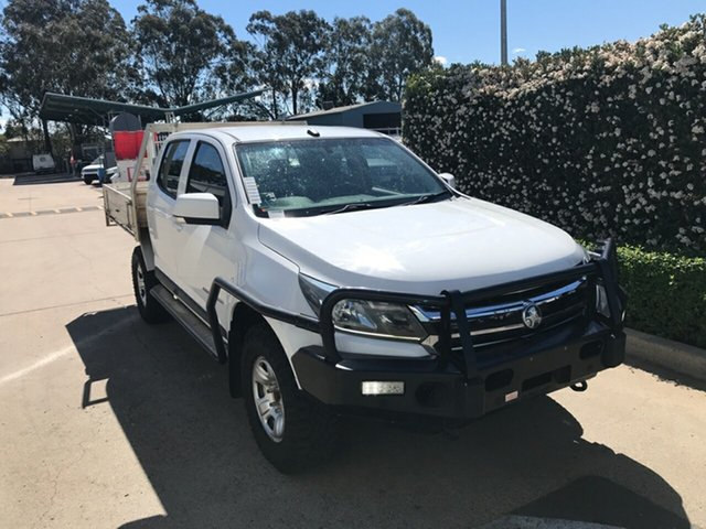 Used Holden Colorado RG MY19 LS Crew Cab Acacia Ridge, 2018 Holden Colorado RG MY19 LS Crew Cab White 6 speed Manual Cab Chassis