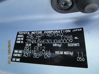 2009 Toyota Corolla ZRE152R Conquest Blue 4 Speed Automatic Sedan