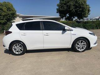 2018 Toyota Corolla ZWE186R Hybrid E-CVT White/300718 1 Speed Constant Variable Hatchback Hybrid.