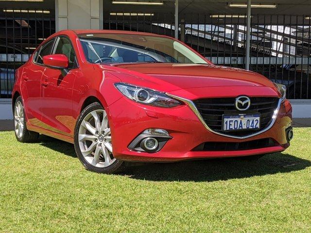 Used Mazda 3 BM5238 SP25 SKYACTIV-Drive GT Victoria Park, 2014 Mazda 3 BM5238 SP25 SKYACTIV-Drive GT Red 6 Speed Sports Automatic Sedan
