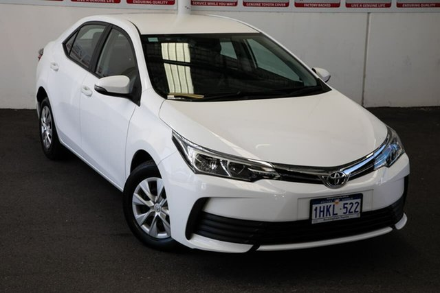 Pre-Owned Toyota Corolla ZRE172R MY17 Ascent Rockingham, 2017 Toyota Corolla ZRE172R MY17 Ascent Glacier White 7 Speed CVT Auto Sequential Sedan