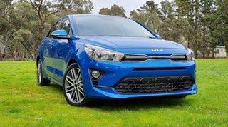 2021 Kia Rio YB MY22 SX Sporty Blue 6 Speed Automatic Hatchback.