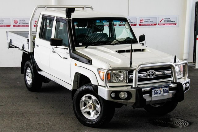 Pre-Owned Toyota Landcruiser LC70 VDJ79R MY17 GXL (4x4) Myaree, 2017 Toyota Landcruiser LC70 VDJ79R MY17 GXL (4x4) French Vanilla 5 Speed Manual Double Cab Chassis