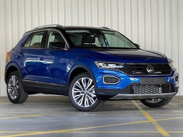 New Volkswagen T-ROC A1 MY21 110TSI Style Moorabbin, 2021 Volkswagen T-ROC A1 MY21 110TSI Style Blue 8 Speed Sports Automatic Wagon