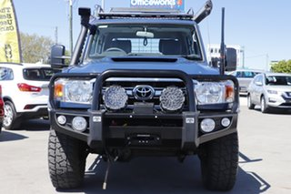 2018 Toyota Landcruiser VDJ79R GXL Double Cab Blue 5 Speed Manual Cab Chassis.