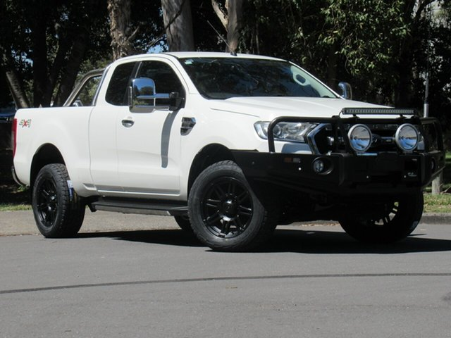 Used Ford Ranger PX MkII 2018.00MY XLT Super Cab, 2017 Ford Ranger PX MkII 2018.00MY XLT Super Cab White 6 Speed Sports Automatic Utility
