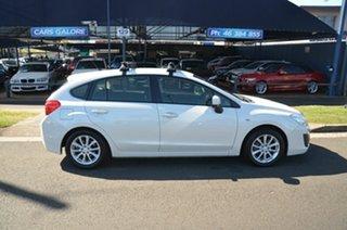 2014 Subaru Impreza MY14 2.0I (AWD) White Continuous Variable Sedan.