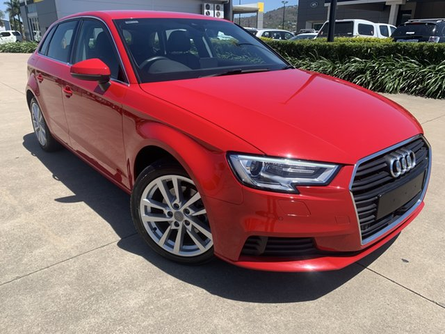 Used Audi A3 8V MY18 Sportback S Tronic Townsville, 2017 Audi A3 8V MY18 Sportback S Tronic Red/290118 7 Speed Sports Automatic Dual Clutch Hatchback