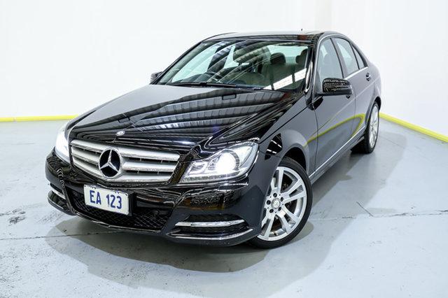 Used Mercedes-Benz C-Class W204 MY13 C300 7G-Tronic + Avantgarde Canning Vale, 2013 Mercedes-Benz C-Class W204 MY13 C300 7G-Tronic + Avantgarde Black/White 7 Speed