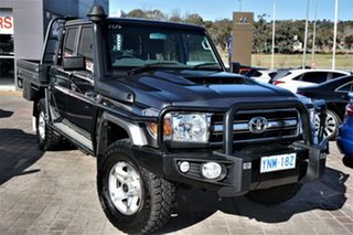 2017 Toyota Landcruiser VDJ79R GXL Double Cab Grey 5 Speed Manual Cab Chassis.