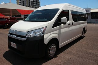2020 Toyota HiAce GDH322R Commuter High Roof Super LWB French Vanilla 6 Speed Sports Automatic Bus.