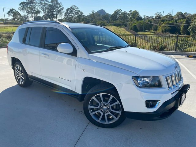 Used Jeep Compass MK MY15 Limited Cooroy, 2014 Jeep Compass MK MY15 Limited White 6 Speed Sports Automatic Wagon